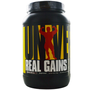 Universal Nutrition, Real Gains, Weight Gainer, Chocolate Ice Cream, 3.8 lb (1.73 kg)