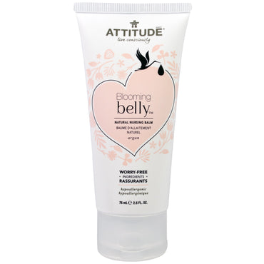 ATTITUDE, Blooming Belly, Natural Nursing Balm, Argan, 2.5 fl oz. (75 ml)
