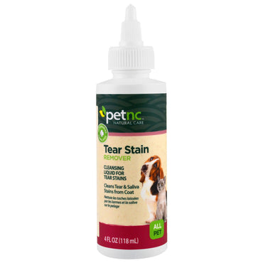 petnc NATURAL CARE, Tear Stain Remover, All Pet, 4 fl oz (118 ml)