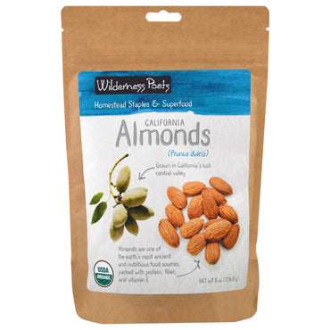 Wilderness Poets, California Almonds, 8 oz (226.8 g)