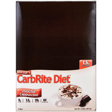 Universal Nutrition Doctor's CarbRite Diet Mocha Cappuccino 12 Bars 2.00 oz (56.7 g)