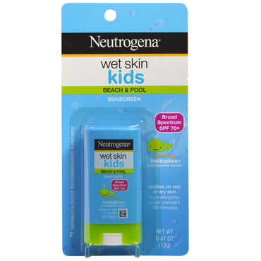 Neutrogena Wet Skin Kids Beach & Pool Stick Sunscreen SPF 70+ 0.47 oz (13 g)