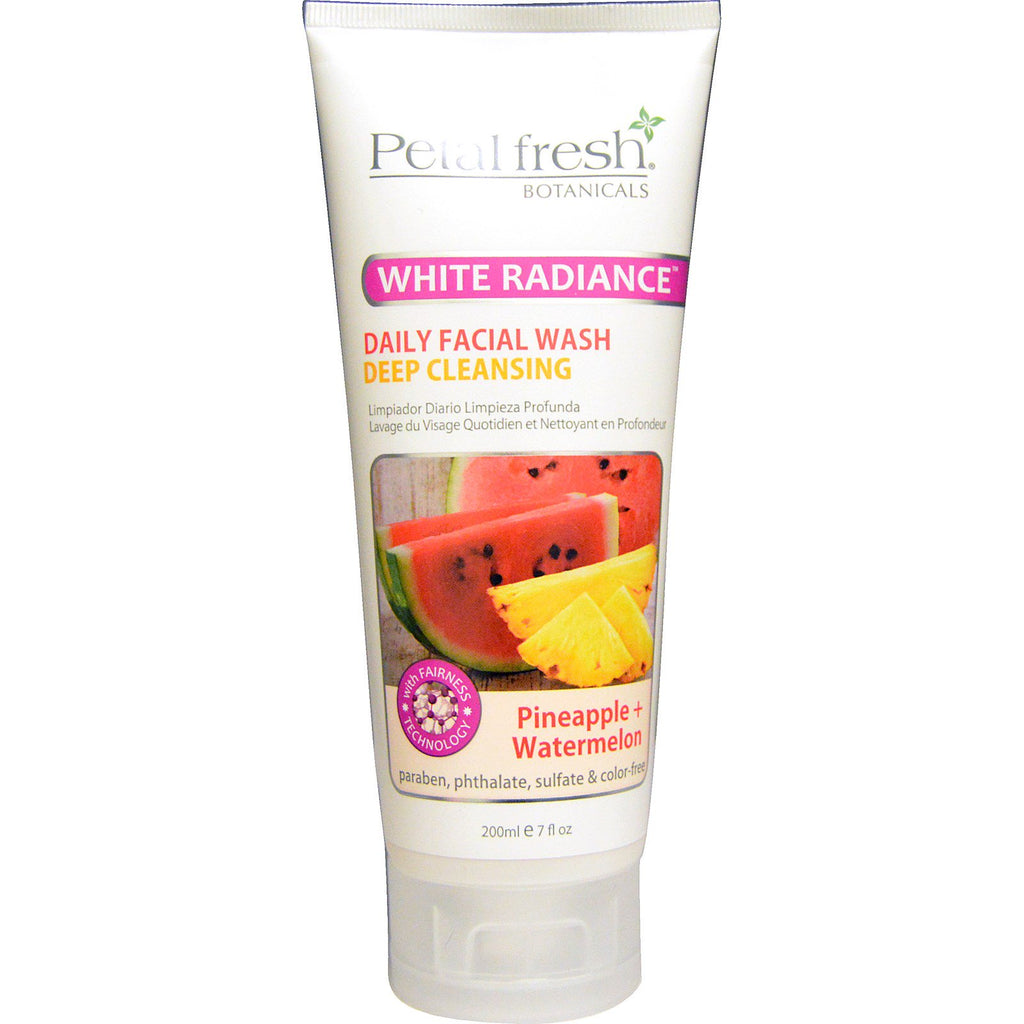 Petal Fresh, Botanicals, White Radiance, Daily Facial Wash, Pineapple + Watermelon, 7 fl oz (200 ml)