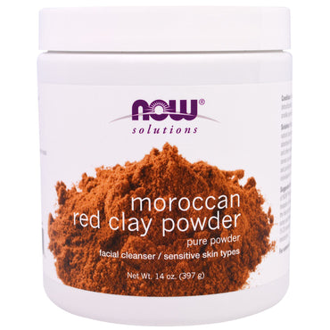 Now Foods, Moroccan Red Clay Powder, Facial Cleanser, 14 oz (397 g)