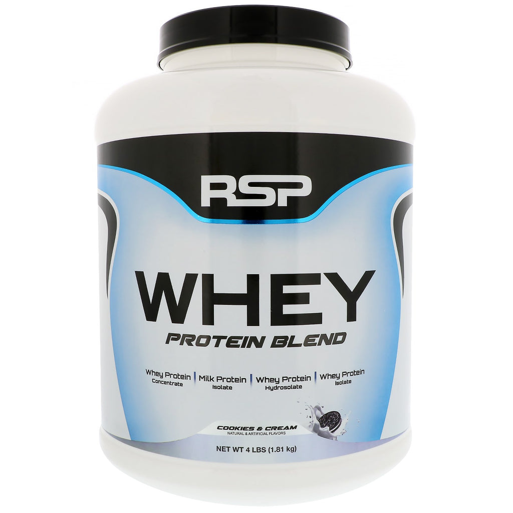 RSP Nutrition, Whey Protein Blend, Cookies & Cream, 4 lbs (1.81 kg)