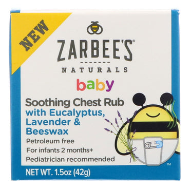 Zarbee's Baby Soothing Chest Rub with Eucalyptus Lavender & Beeswax 1.5 oz (42 g)