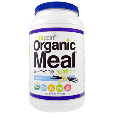 Orgain, Organic Meal, All-In-One Nutrition, Vanilla Bean, 2.01 lbs (912 g)