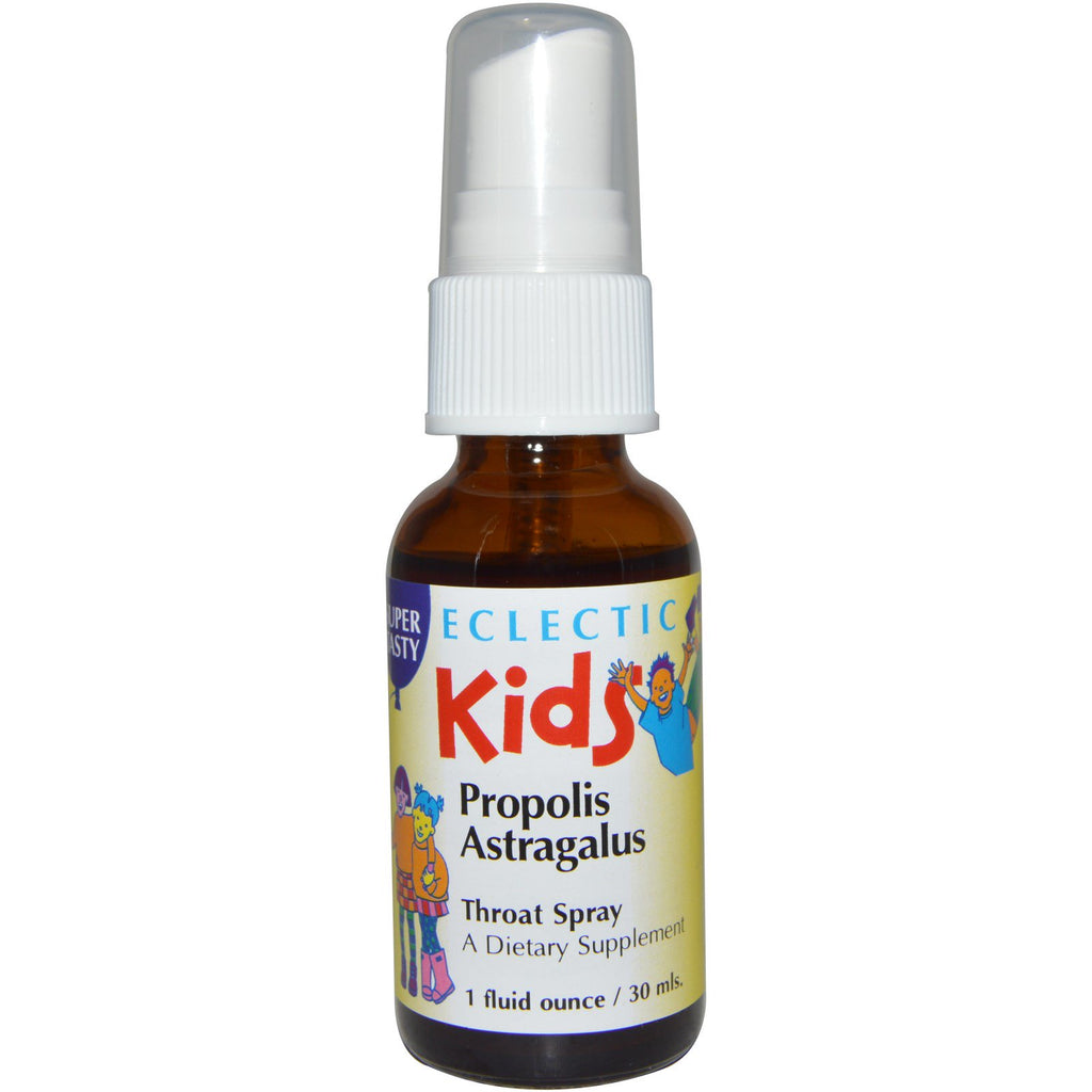 Eclectic Institute, Kids, Propolis Astragalus, Throat Spray, 1 fl oz (30 ml)