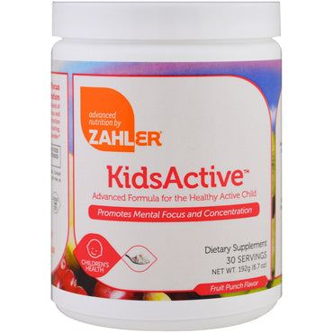 Zahler, Kids Active, Advanced Formula for the Healthy Active Child, Fruit Punch, 6.7 oz (192 g)