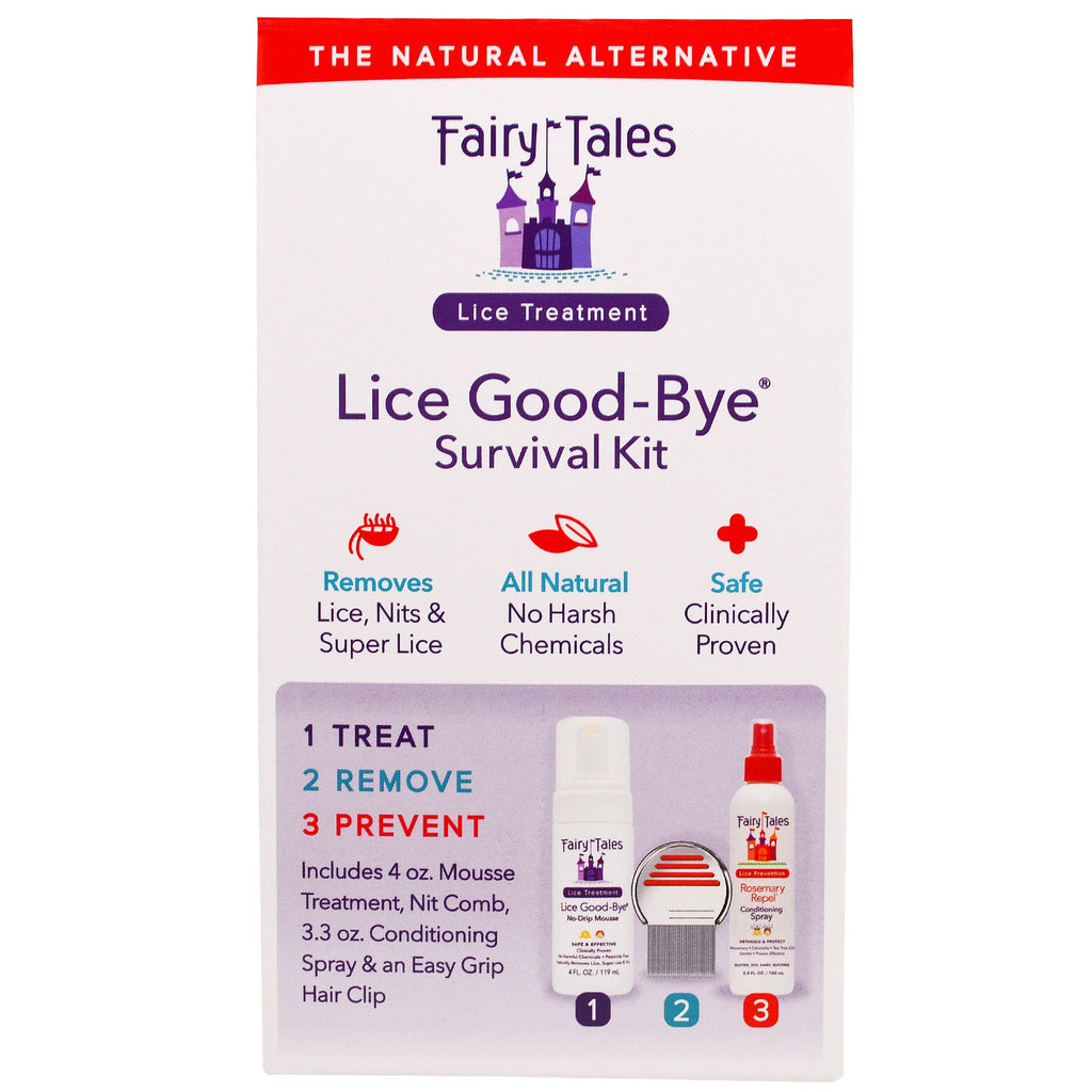 Fairy Tales, Lice Good-Bye Survival Kit, 3 Piece Kit