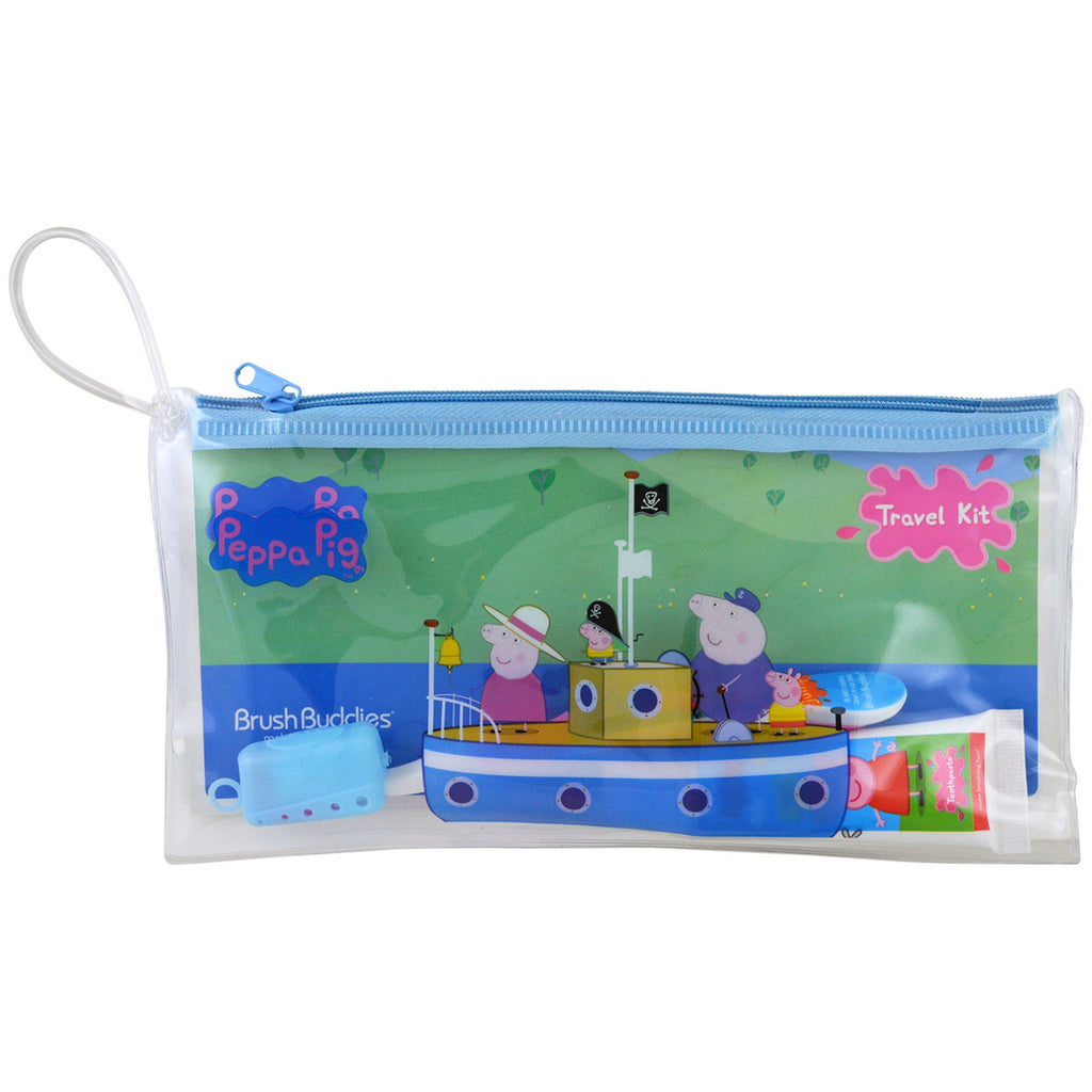 Brush Buddies, Peppa Pig, Toothbrushing Travel Kit, 3 Piece Kit
