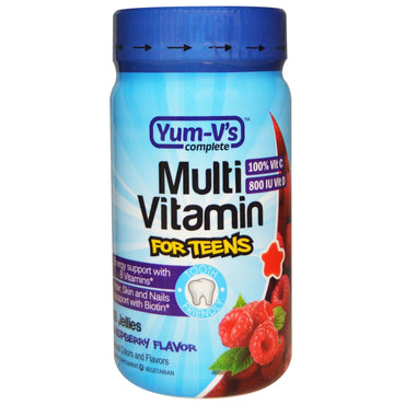 Yum-V's, Multi Vitamin for Teens, Raspberry Flavor, 60 Jellies