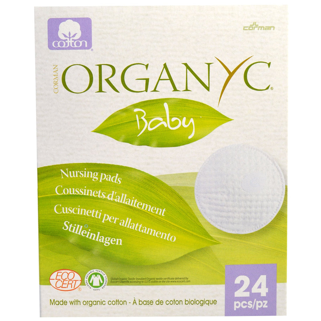 Organyc, Baby, Nursing Pads, 24 Pieces