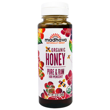 Madhava Natural Sweeteners, Organic Honey, Pure & Raw, 12 oz (340 g)