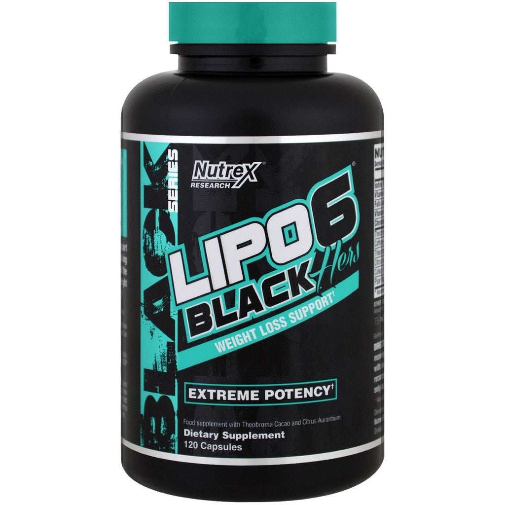 Nutrex Research, Lipo 6 Black, Hers, Weight Loss Support , 120 Capsules