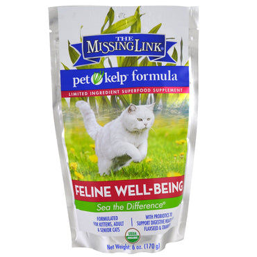 The Missing Link, Pet Kelp Formula, Feline Well-Being, For Cats, 6 oz (170 g)