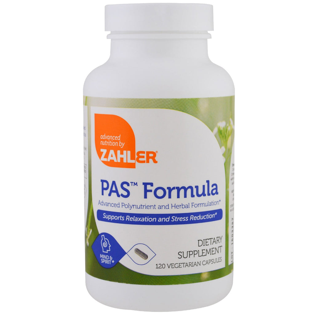 Zahler, PAS Formula, Advanced Polynutrient and Herbal Formulation, 120 Vegetarian Capsules