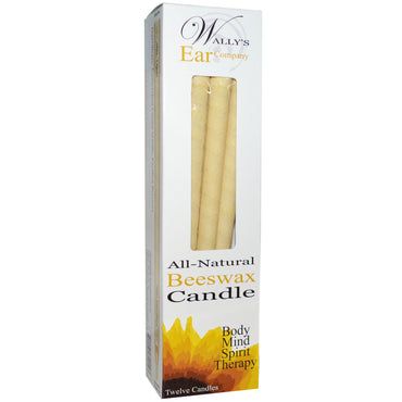 Wally's Natural Products, Ear Candles, Luxury Collection, Unscented, 12 Candles