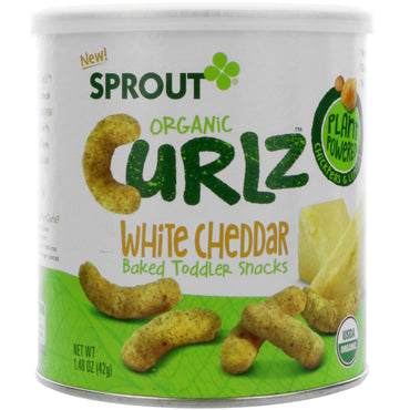 Sprout Organic Curlz White Cheddar 1.48 oz (42 g)