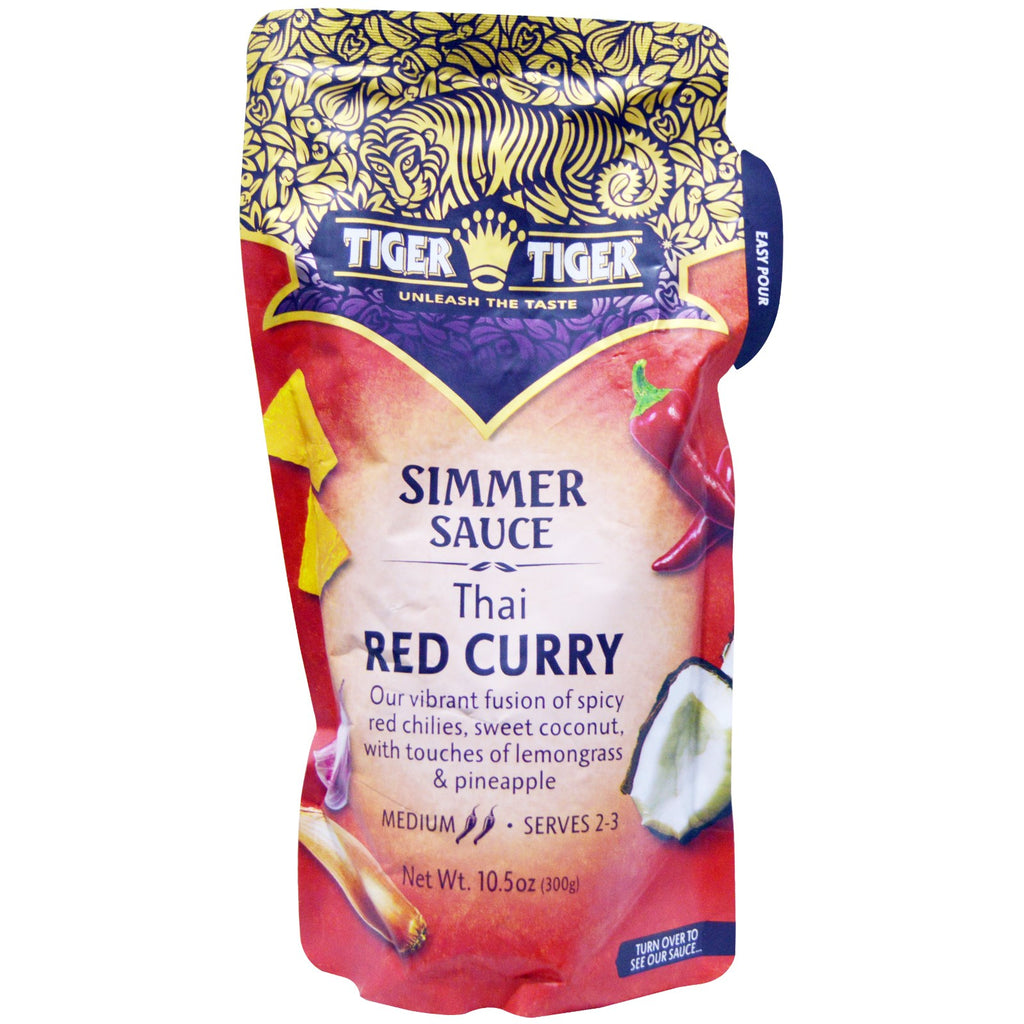 Tiger Tiger, Simmer Sauce, Thai Red Curry, 10.5 oz (300 g)