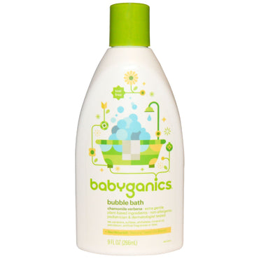 BabyGanics Bubble Bath Chamomile Verbena 9 fl oz (266 ml)