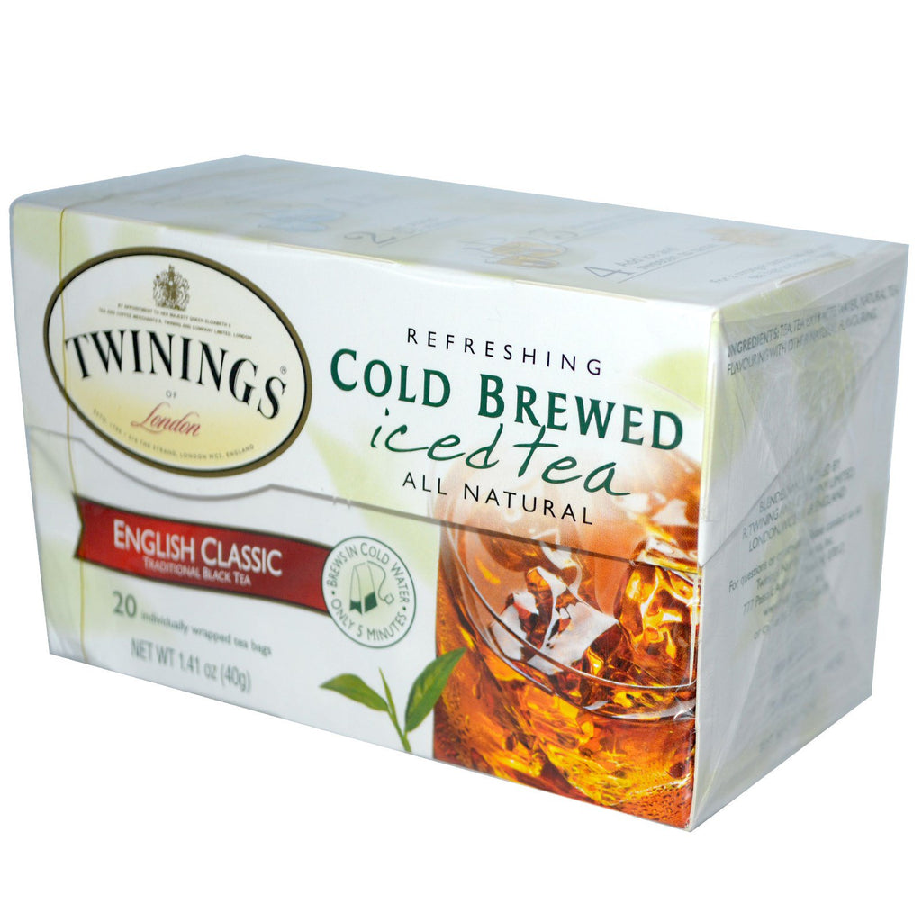 Twinings, Cold Brewed Iced Tea, English Classic, 20 Tea Bags, 1.41 oz (40 g)