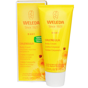 Weleda, Baby Body Cream, Calendula, 2.5 fl oz (75 ml)