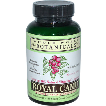 Whole World Botanicals, Royal Camu, 350 mg, 140 Vegetarian Capsules
