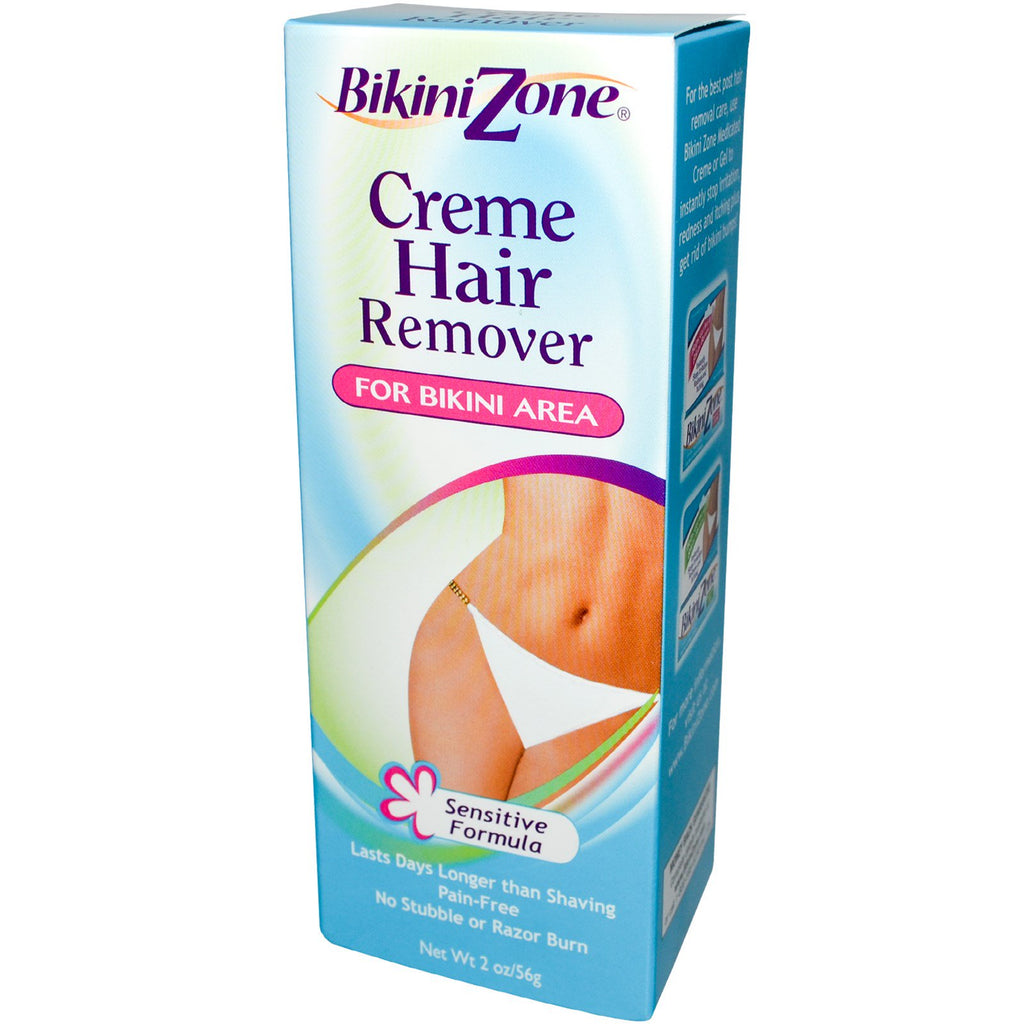 BikiniZone, Creme Hair Remover, For Bikini Area, Sensitive Formula, 2 oz (56 g)