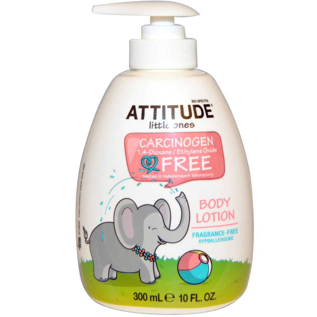 ATTITUDE Little Ones Body Lotion Fragrance-Free 10 fl oz (300 ml)