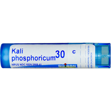 Boiron, Single Remedies, Kali Phosphoricum, 30C, Approx 80 Pellets