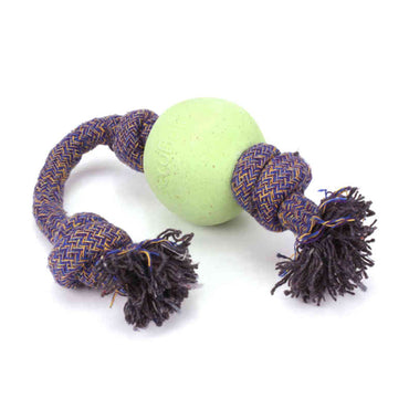 Beco Pets, Eco-Friendly Dog Ball On a Rope, Large, Green, 1 Rope