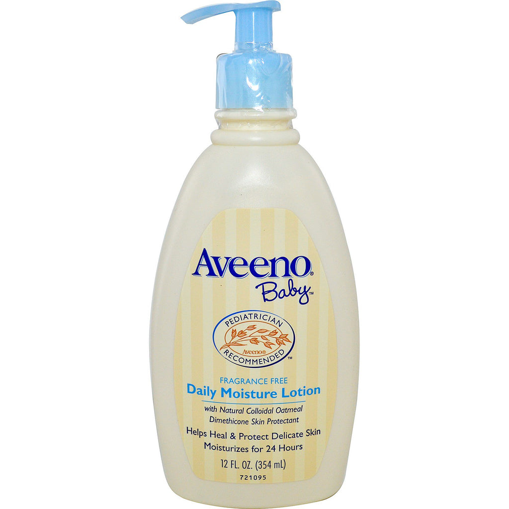 Aveeno Baby Daily Moisture Lotion Fragrance Free 12 fl oz (354 ml)