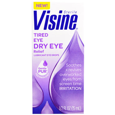 Visine Sterile Tired Eye Dry Eye Relief 1/2 fl oz (15 ml)