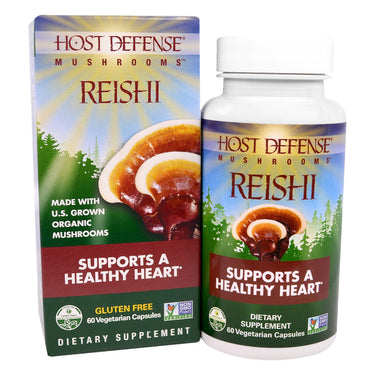 Fungi Perfecti, Host Defense Mushrooms, Reishi, Supports a Healthy Heart, 60 Veggie Caps