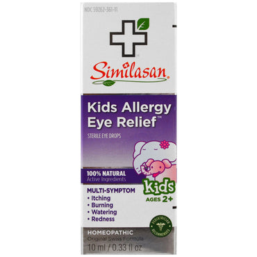 Similasan, Kids Allergy Eye Relief, Sterile Eye Drops, Ages 2+, 0.33 fl oz (10 ml)