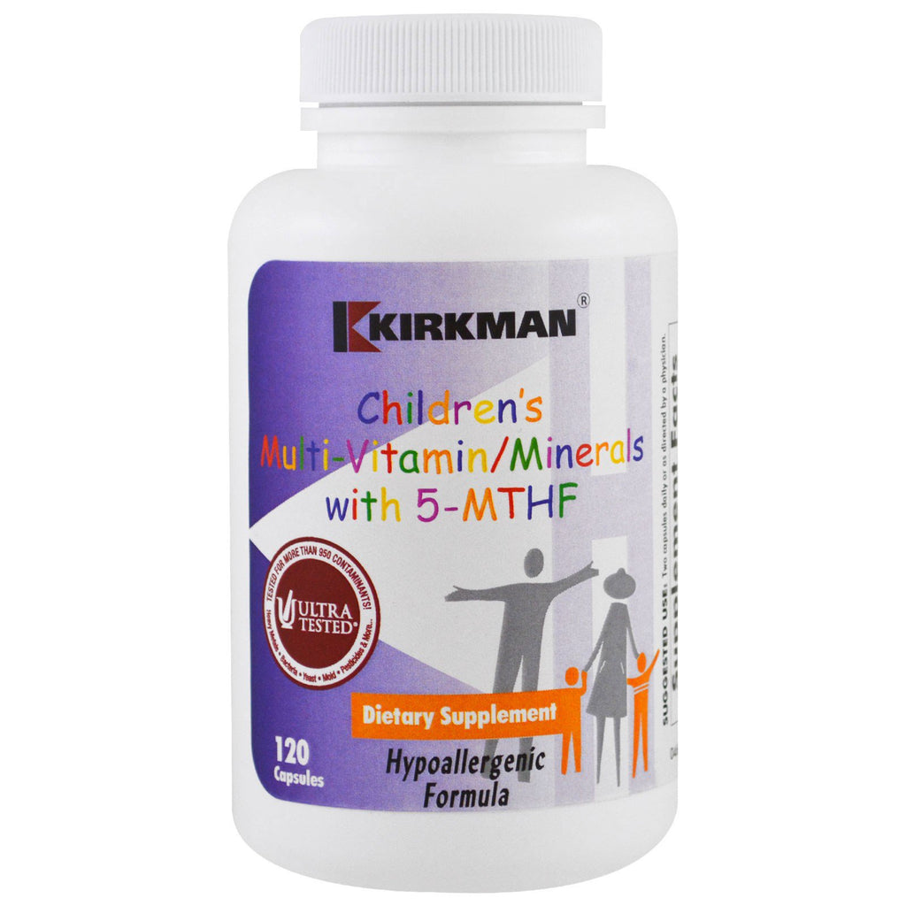 Kirkman Labs, Children's Multi Vitamin/Minerals with 5-MTHF, 120 Capsules
