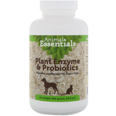 Animal Essentials, Plant Enzyme & Probiotics, For Dogs + Cats, 10.6 oz (300 g)