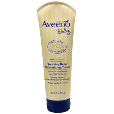 Aveeno, Baby, Soothing Relief Moisturizing Cream, Fragrance-Free, 8 oz (226 g)