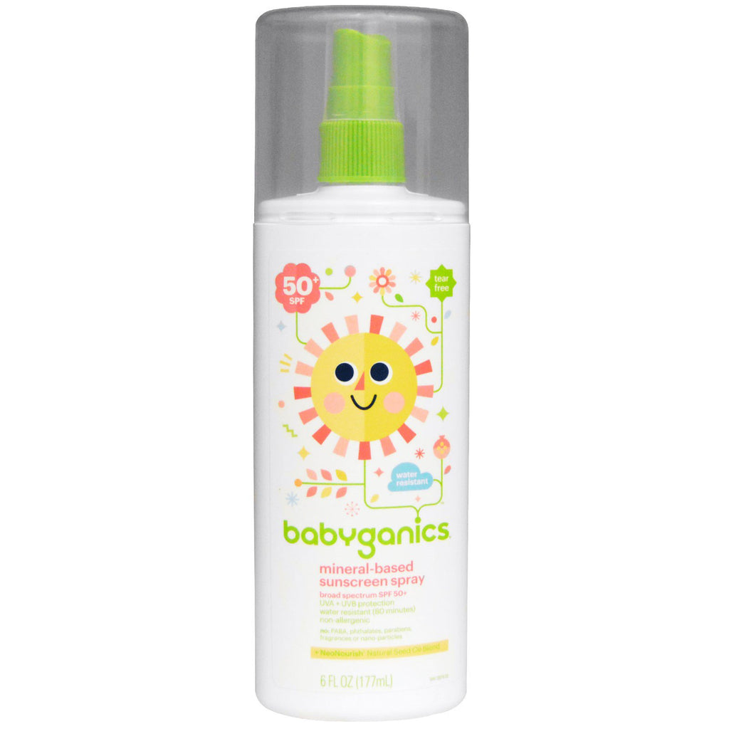 BabyGanics Mineral-Based Sunscreen Spray 50 + SPF 6 fl oz (177 ml)