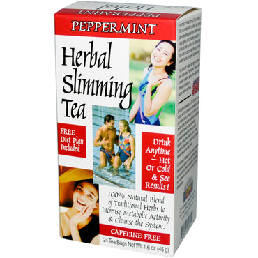 21st Century, Herbal Slimming Tea, Peppermint, 24 Tea Bags, 1.6 oz (45 g)