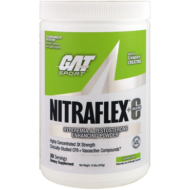 GAT, Nitraflex+C, Lemon Lime, 14.8 oz (420 g)