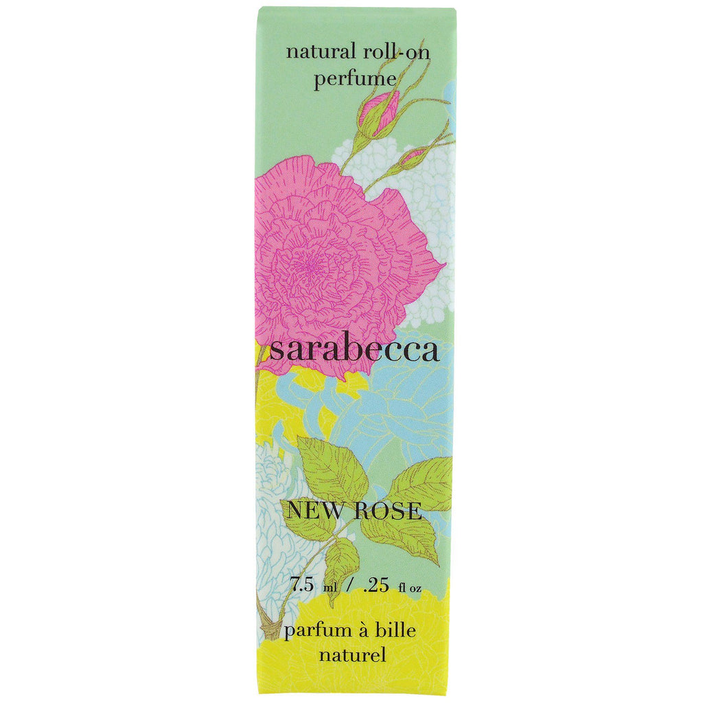 Sarabecca, Natural Roll-On Perfume, New Rose, .25 fl oz (7.5 ml)