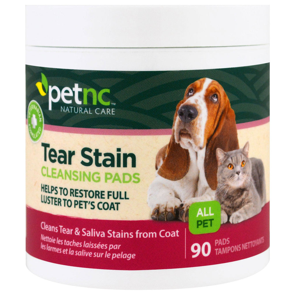 petnc NATURAL CARE, Tear Stain Cleansing Pads, 90 Pads