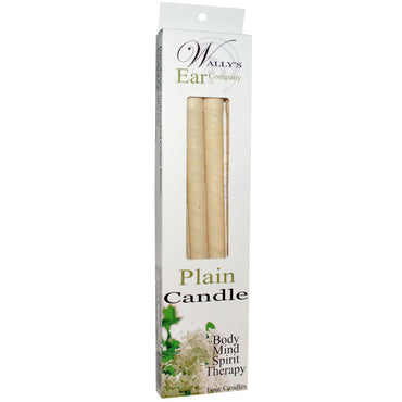 Wally's Natural Products, Plain Candle, 4 Candles