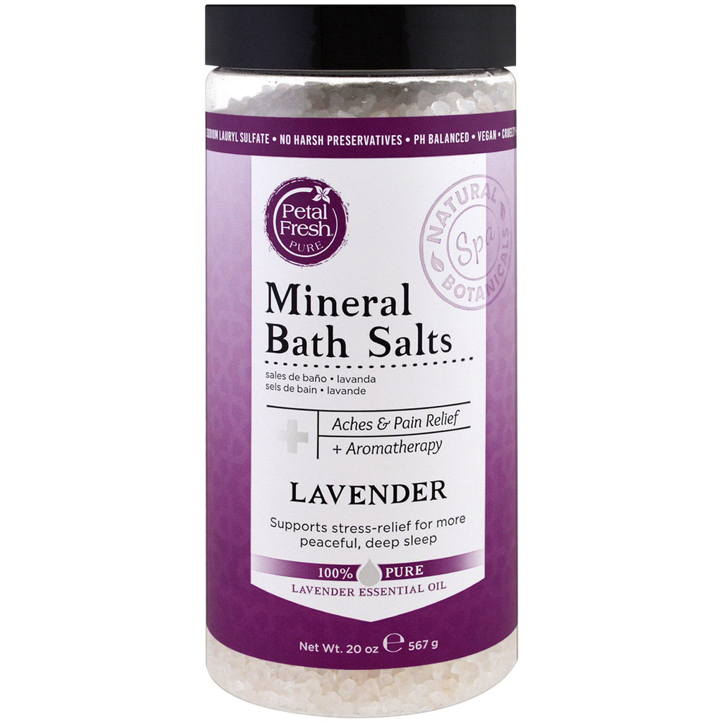 Petal Fresh, Pure, Mineral Bath Salts, Lavender, 20 oz (567 g)