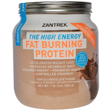 Zoller Laboratories, Fat Burning Protein Powder, Triple Chocolate Fudge, 1 lb 3 oz (542 g)
