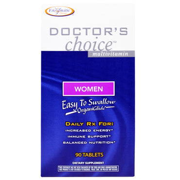 Enzymatic Therapy, Doctor's Choice Multivitamin, for Women, 90 Tablets