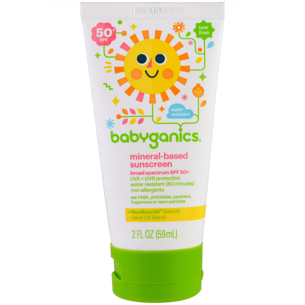 BabyGanics Mineral Based Sunscreen Lotion SPF 50+ 2 oz (59 ml)