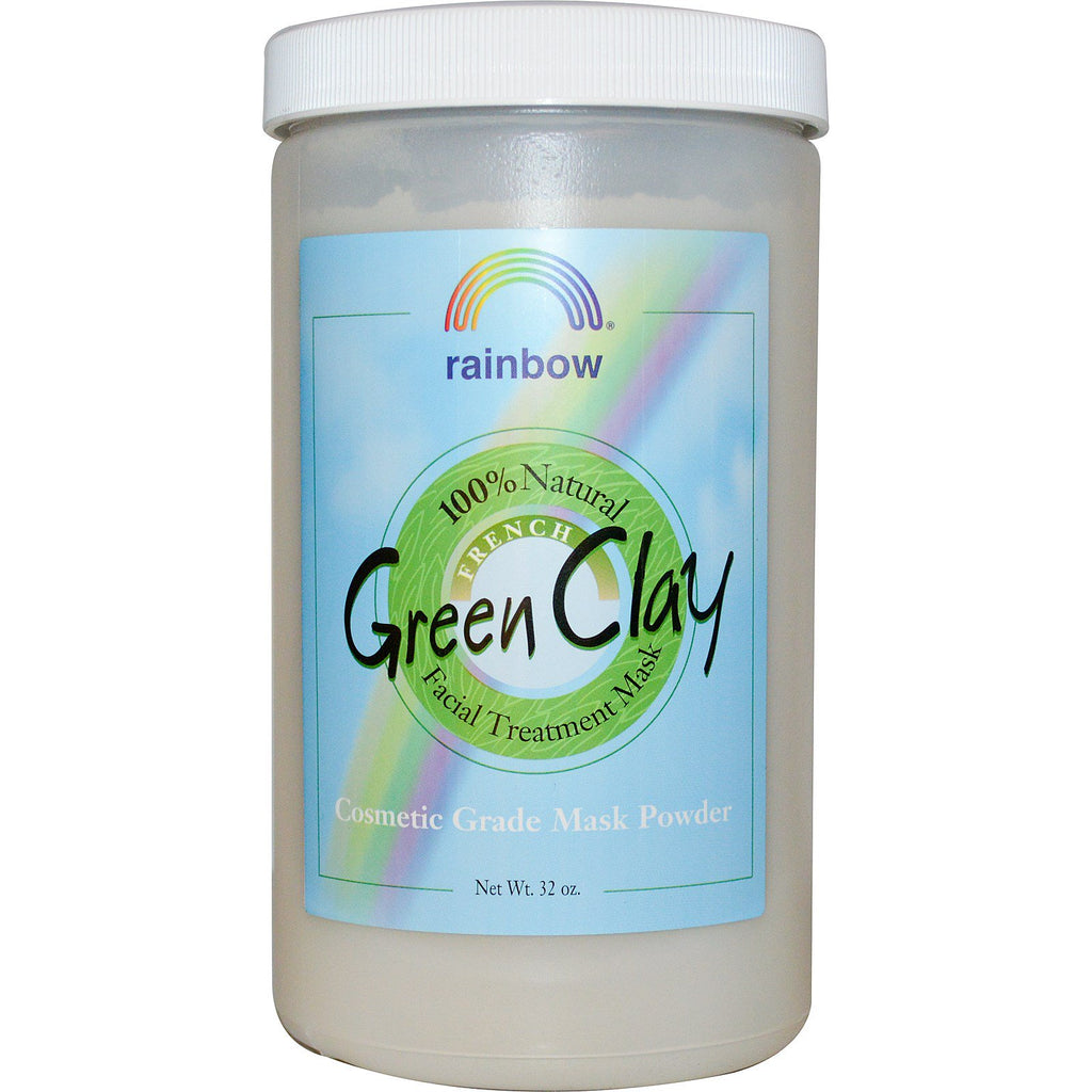 Rainbow Research, French Green Clay, Facial Treatment Mask Powder, 32 oz
